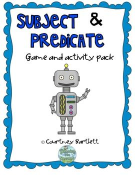 Subjects and Predicates game pack $4.00