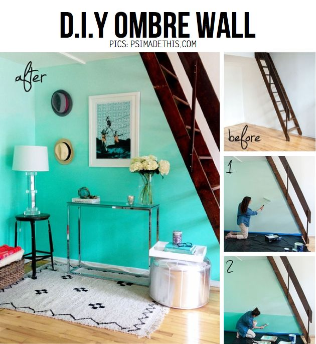 Best Living Room Images On Pinterest Bedroom Wall Diy Ombre - Ombre wall painting technique