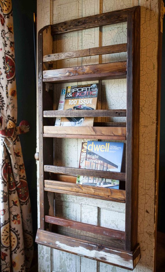 Wood Magazine Rack ~ Wall mounted wood magazine rack woodworking projects plans