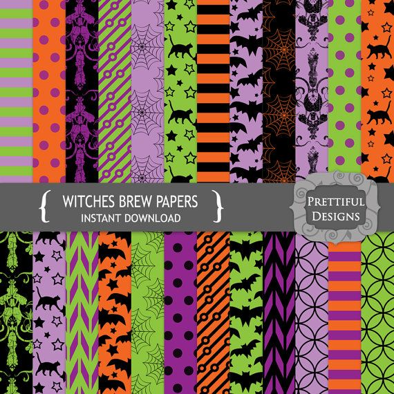 Halloween Digital Paper Pack - Witches Brew (760)