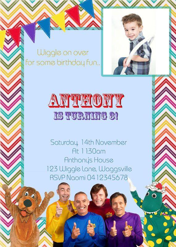 The Wiggles Birthday invitation Boys and by JadeADigitalInvites, $8.00