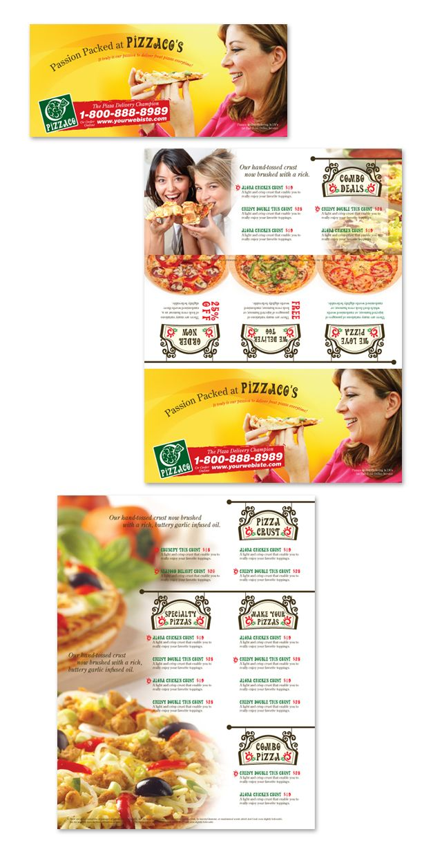 Pizza Pizzeria Restaurant Take-out Tri Fold Brochure Template http://www.dlayouts.com/template/202/pizza-pizzeria-restaurant-take-out-tri-fold-brochure-template
