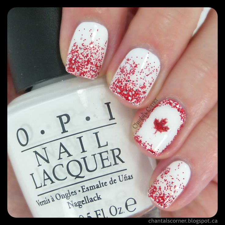 Happy Canada Day! (Busy Girl's Summer Nail Art Challenge Week 2 - Glitter) ~ Chantal's Corner