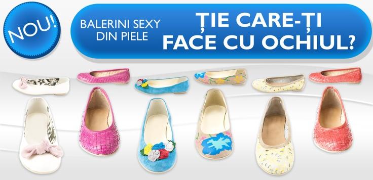 Balerinii din piele fină la putere! Îi puteţi cumpăra de pe http://www.tinar.ro/accesorii/pantofi.html, spor la shopping şi voie bună!