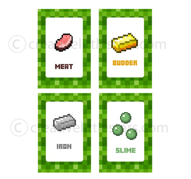 Free Printable Minecraft Food Tent Labels Bing Images