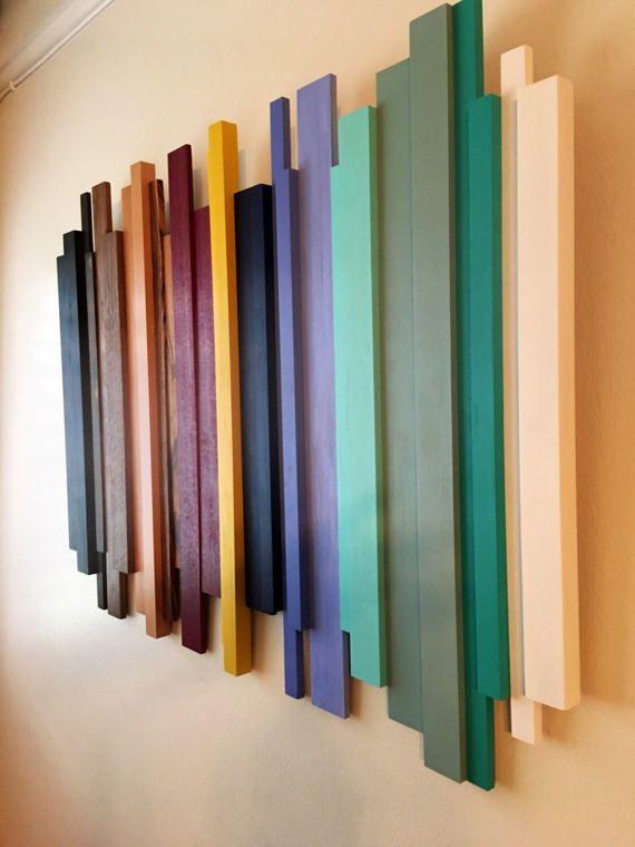 Wood Wall Art Sculpture Modern