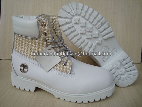 Timberland Mens Nest 6 Inch Boots-White