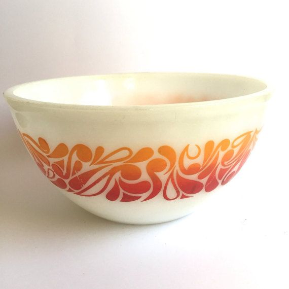 Vintage Pyrex Mixing Bowl by postcode on Etsy