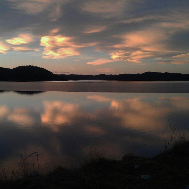 Beautiful sky. Utfall in Norway