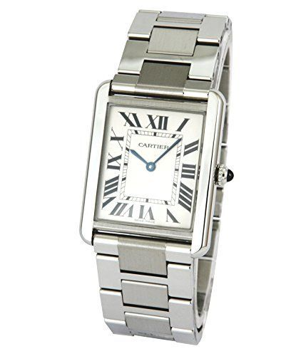 Cartier Men's W5200014 Tank Solo Large Stainless Steel Watch ** Click image to review more details.
