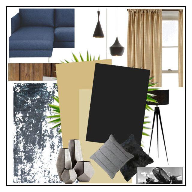 """small masculin apartment"" by kata-koppany on Polyvore featuring interior, interiors, interior design, home, home decor, interior decorating, Retrò, Hyde, Seasonal Living and Royal Velvet"
