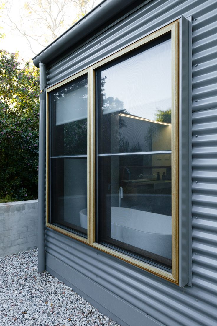 Blackbutt framed insect screens on sashless windows by Against the Grain Windows & Doors