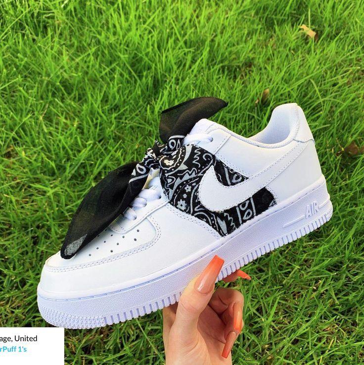 Black Bandana AF1 - DifferentStylings | Jordan shoes girls, Air ...