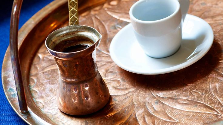 """Greek coffee is a kind of ritual in Greece and especially when prepared in """"hovoli""""."""