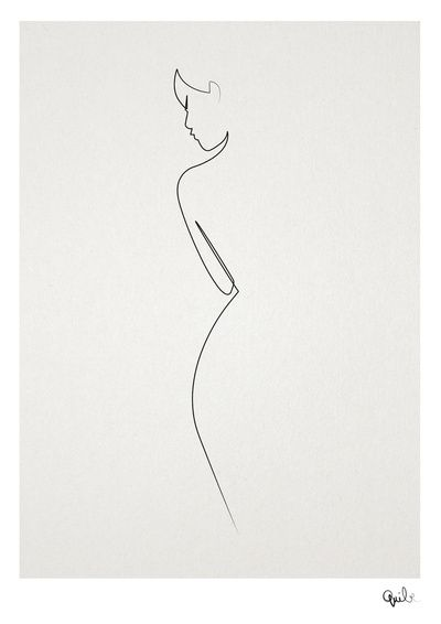 One line nude art print by Quibe. I adore this. So simple and elegant.