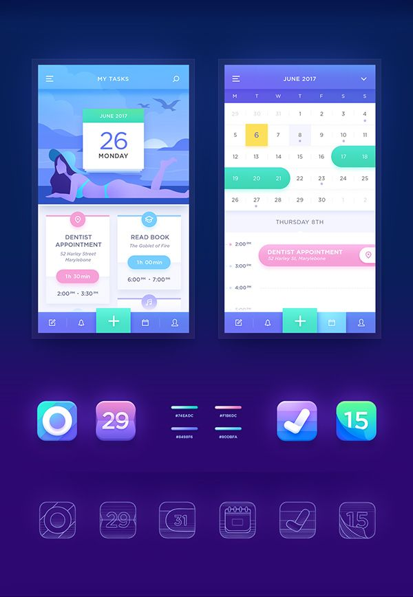 Calendar App Design By Neststrix Studio App Appdesign Design