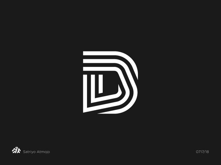 Letter D by Satriyo Atmojo.  Monogram, logo, logos, logo design, graphicdesign, letter, typography, type, graphic designer
