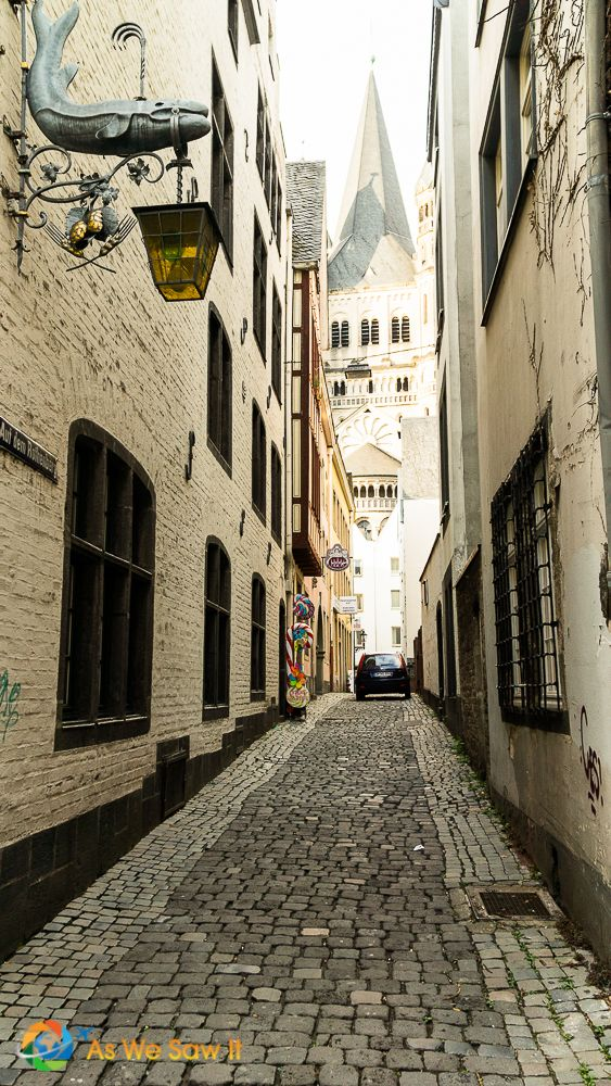 Quiet street in Cologne, Germany
