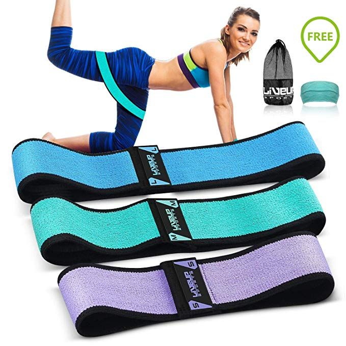 Women Men Fabric Resistance Bands Hip Circle Glutes Booty Butt Exercise Loop Set