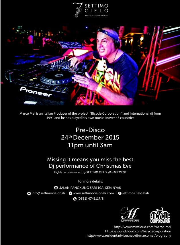 The Night Before Christmas in BALI . Catch me playing tomorrow at Settimo Cielo , Seminyak • Bali - Indonesia