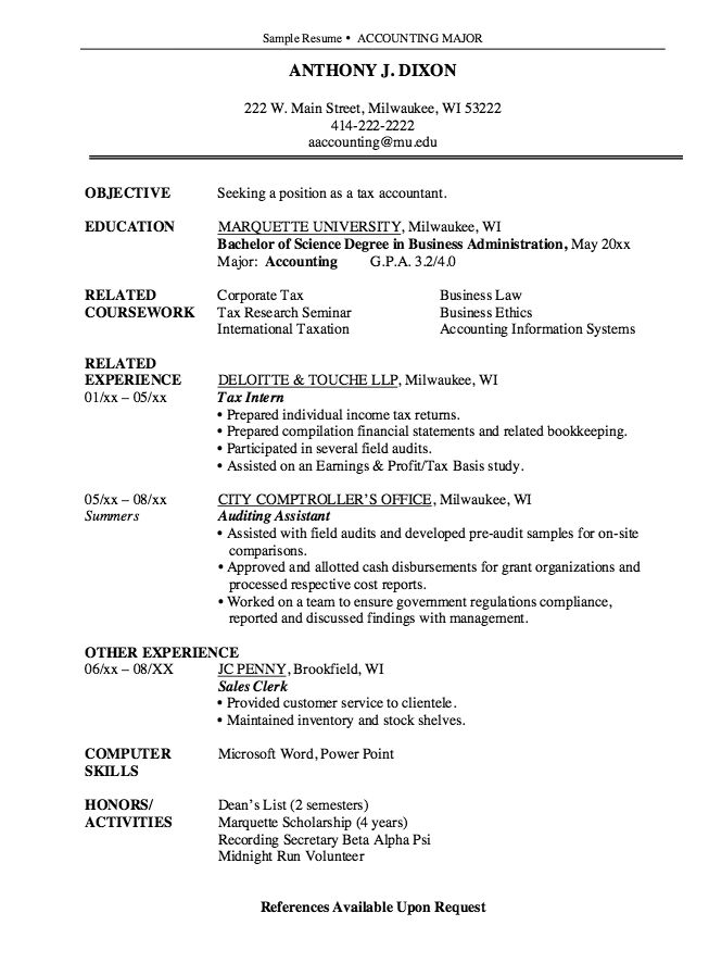 Más de 25 ideas increíbles sobre Accountant resume en Pinterest - tax accountant resume sample