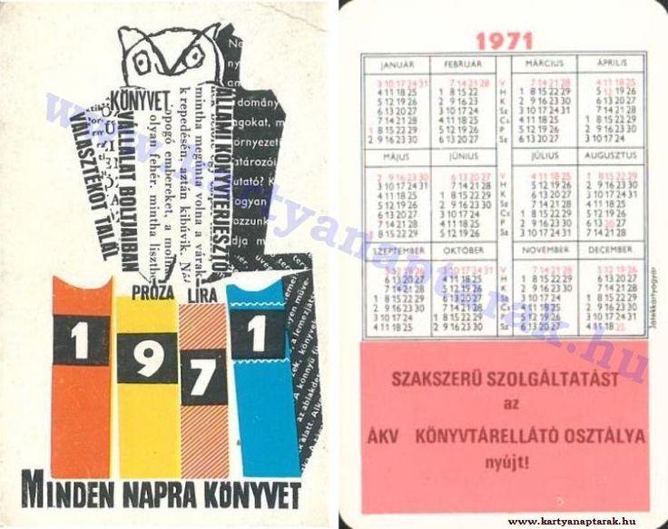 1971 - 1971_0568 - Régi magyar kártyanaptárak