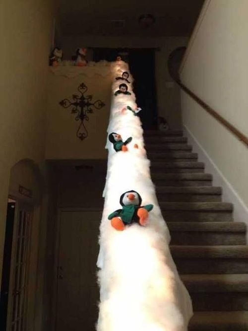 Penguin slide… this would be cute with polar bears too