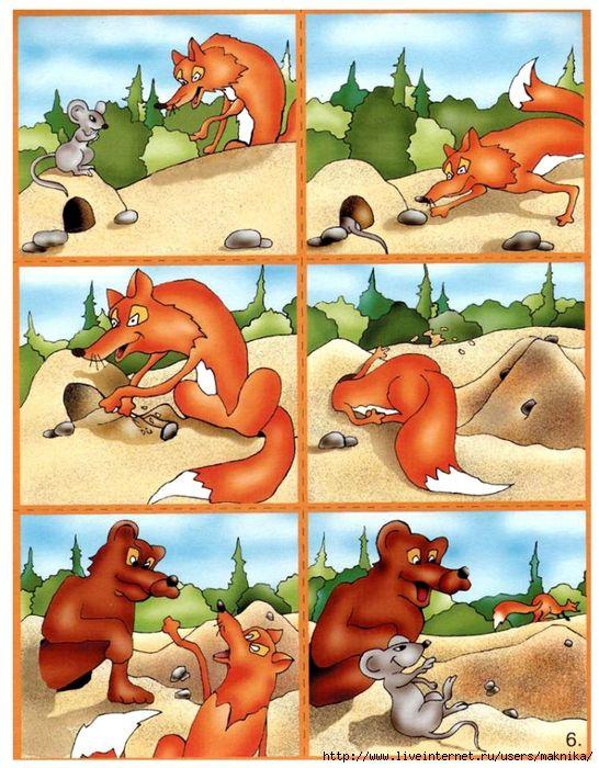 Histoire en séquence - 6 images - renard