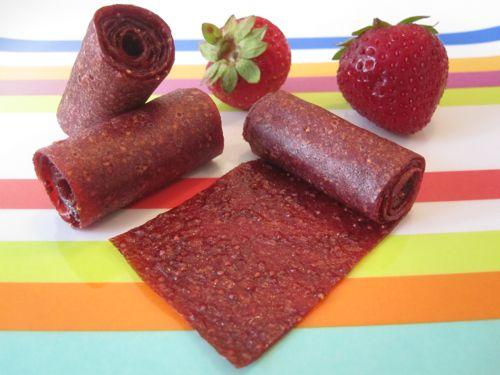 Homemade Strawberry Fruit Leather | Weelicious