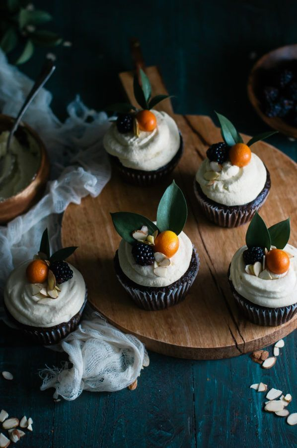 Chocolate & Earl Gray Cupcakes with Kumquat Italian Meringue Buttercream - The Kitchen McCabe