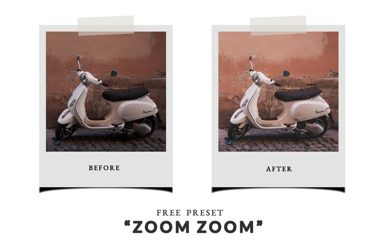 Free Lightroom Preset - Zoom Zoom - Chic Lightroom Presets & Brushes