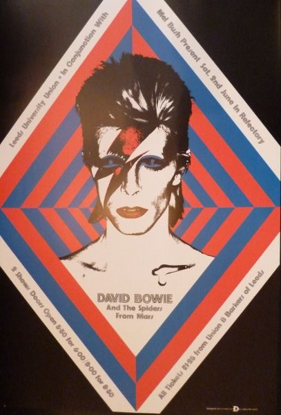 Buy David Bowie poster - Leeds University concert 1973 ...