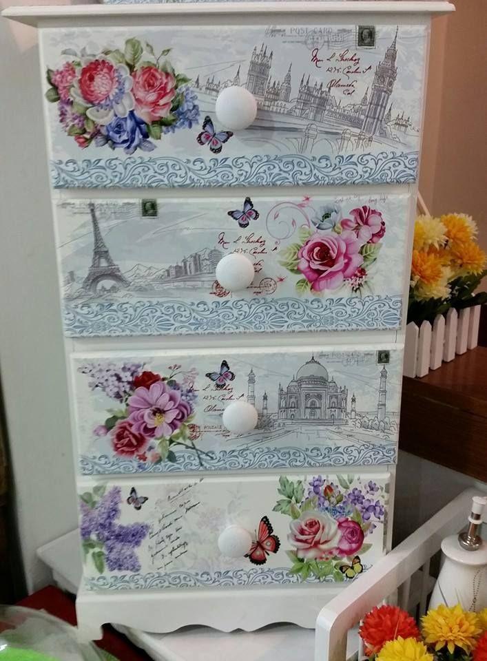 44 best cajas con decoupage images on pinterest decorative boxes decoupage ideas and - Imagenes de muebles de carton ...