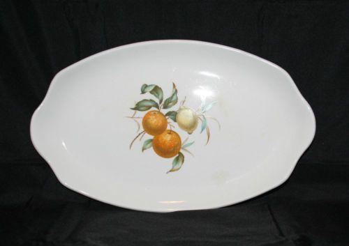 Myott-Ironstone-Staffordshire-England-Vintage-Fine-White-Plate-Fruits-Design