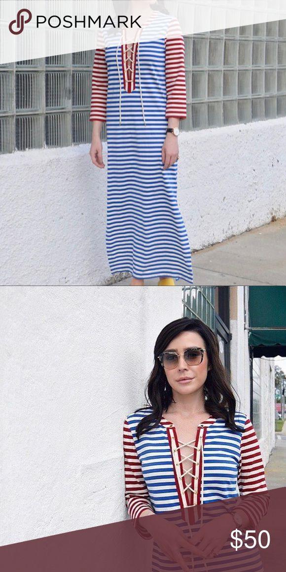 J Crew Nautical Maxi Dress Beautiful Maxi Dress from J Crew -- worn once. J. Crew Dresses Maxi