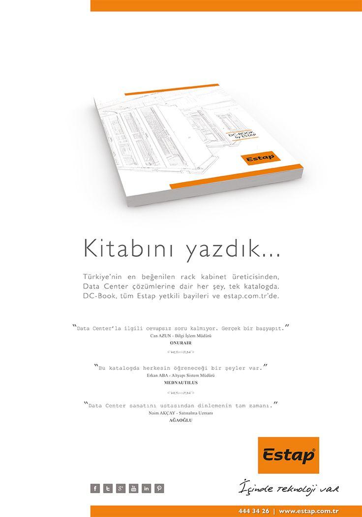 Kitabını yazdık! Datacenter çözümlerine dair her şey, tek katalogda. DC-Book, tüm Estap yetkili bayileri ve estap.com.tr'de. www.estap.com.tr