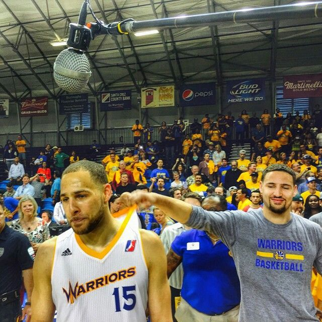 Splash brother Klay Thompson celebrates his brother Mychel's D League championship series win, hoping for a prelude to his team by the same name in their quest for a title on the NBA level.