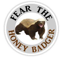 Fear the Honey Badger Sticker