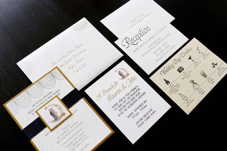 6.25 Paper Invitations - Michigan Wedding with Pearls Events: Real Wedding 2013 | Lauren & John