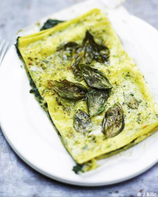 Lasagnes végétariennes ricotta et basilic pour 6 personnes - Recettes Elle à Table