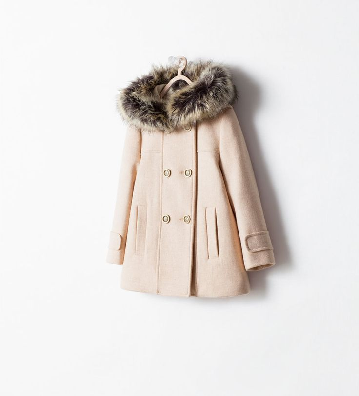 COAT WITH DETACHABLE FUR HOOD