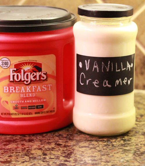 HOMEMADE coffee creamer...save your old, cleaned-out C.Mate container and re-use it for this wonderful recipe.