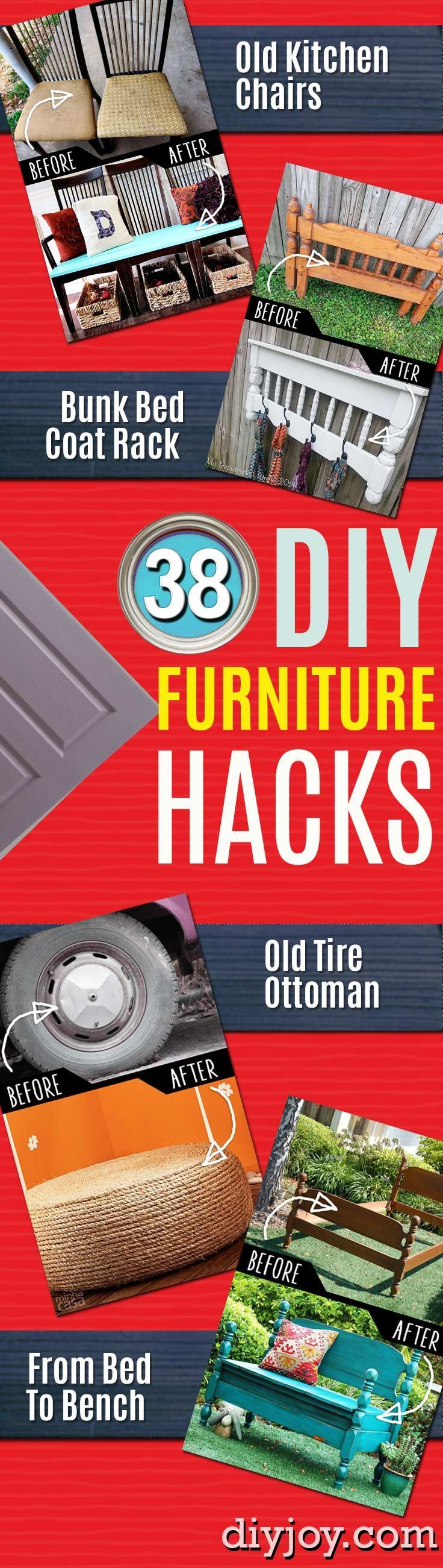 DIY Furniture Hacks | Cool Ideas for Creative Do It Yourself Furniture Made From...