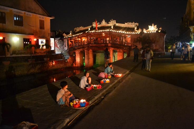 Japanese Bridge by Night, Hoi An