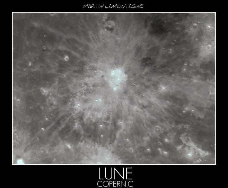 Moon COPERNIC crater ORION + webcam