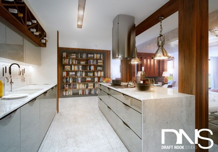 Projekt kuchni - styl nowoczesny