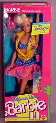 My favourite Barbie EVER.  I totally wanted her outfit, and I also have always loved the Beach Boys.