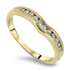 18ct Gold 11 Stone Diamond Ring
