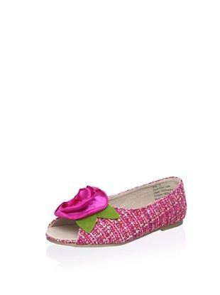 71% OFF Joyfolie Kid's Charlotte Tweed Flat (Pink)