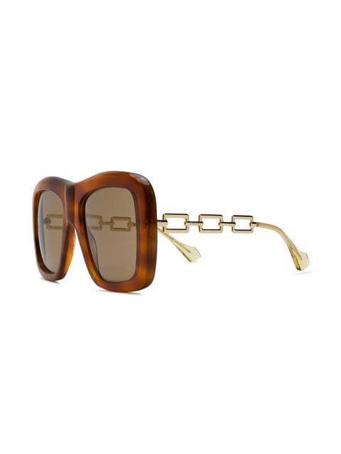 ec94e0000f7df Gucci Eyewear Lunettes De Soleil à Monture Carrée in 2019